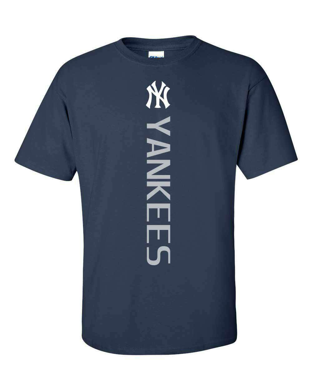 New York NY Yankees MLB Vertical T-Shirt - S-5XL FREE SHIPPI