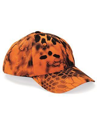 d8f0128aee3a0 Kryptek Inferno Blaze Orange Camo Hat  Cap