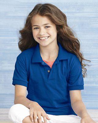 20 Gildan DryBlend Youth Jersey Polo Bulk Wholesale Kids ok