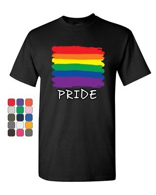Gay Pride T-Shirt Rainbow Flag LGBT Marriage Love Wins Mens Tee Shirt (Pride Rainbow)