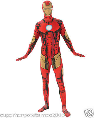 The Avengers Iron Man 2. Skin Kostüm Marvel Comics Erwachsene Größe Groß Nwt