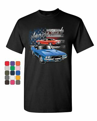 Dodge Challenger American Classic T-Shirt American Muscle Car Mens Tee - Classic Muscle Car