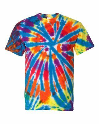 Hippie Mens Tie Dye - Dyenomite Rainbow Cut Spiral Tie Dye T Shirt Mens Womens EDM Hippie Stoner 200TD