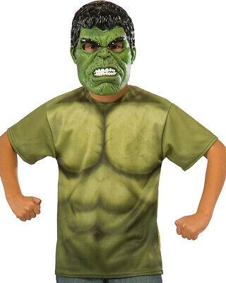 Child's Boys Marvel Universe Thor Ragnarok Hulk Costume Shirt And Mask (Boys Thor Costume)
