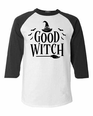 Best Halloween Custom (Good Witch Blk Raglan Baseball Funny Matching Best Friends Halloween)