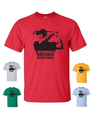 Tiger Woods WINNING TAKES CARE OF EVERYTHING Gildan Men's Tee Shirt