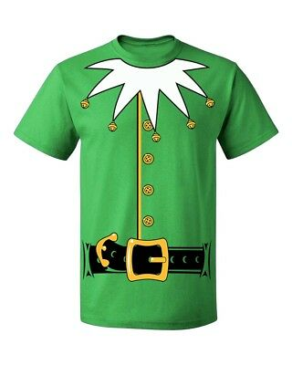 Santa's Helper Elf Christmas Costume Jumbo Print Men's T-shirt funny tee