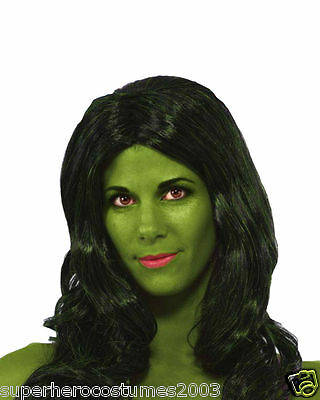 Avengers She-Hulk Costume Wig Adult Womens Marvel Comics Brand New Rubies - She Hulk Costume