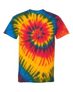 PEACHES PICK Brand NEW Tie Dye T-shirt S,M,L,XL,2X,3X Blank Tye Died Dyed Tee