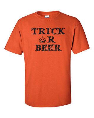 Trick or Beer PUMPKIN Halloween College Drinking BLACK PT. Men's Tee Shirt 339 - Halloween Beer Drinks