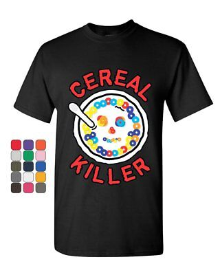 Cereal Killers (Cereal Killer T-Shirt Funny Breakfast Morning Meal Serial Killer Mens Tee)