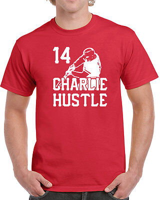 300 Charlie Hustle mens T-shirt funny baseball cincinnati vintage 70s king hit