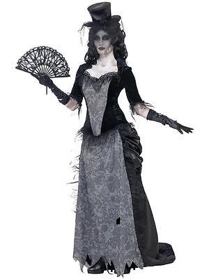 Women's Ghost Town Widow Costume Goth Gothic Undead Horror Movie Wild West New - Horror Gothic Costumes