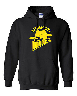 Gotham City Rogues Football Batman Dark Knight Rises GOLD PRINT Men's HOODIE](Dark Knight Hoodie)