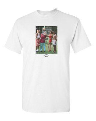 Hugh Hefner Fresh Prince Playboy Custom Mens T Shirt Tee S 3Xl New White