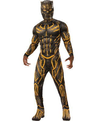 Mens Black Panther Erik Killmonger Suit Deluxe Costume (Black Panther Suit)