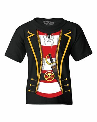 Pirate Buccaneer Striped Skull Costume Youth's T-Shirt Jolly Roger Shirts
