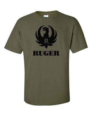 Ruger Black Logo T Shirt 2Nd Amendment Pro Gun Brand Tee Firearms Rifle Pistol