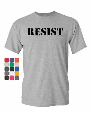 Resist T-Shirt Political Anti-Trump Protest Rebel Impeach Fight Mens Tee Shirt - Fight Mens Tee