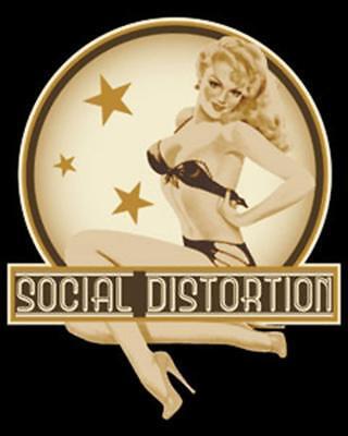 Social Distortion Pin Up Girl STICKER - Decal Music Band Album Art SE088