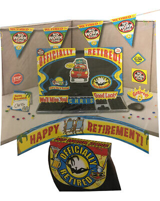 Office Worker Happy Official Retirement Party Cubicle Decoration Kit