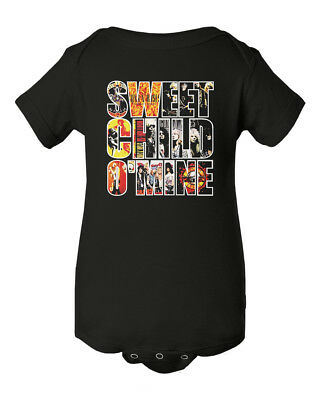 Guns N Roses Sweet Child Baby Short Sleeve Bodysuit - Guns N Roses Bodysuit