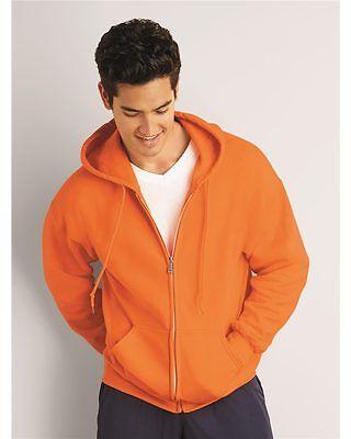 Gildan DryBlend Full Zip Up Mens Hoodie Hooded Sweatshirt Ho