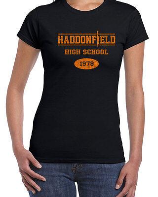009 Haddonfield High School womens T-shirt funny Halloween new 70s costume retro - Top High School Halloween Costumes