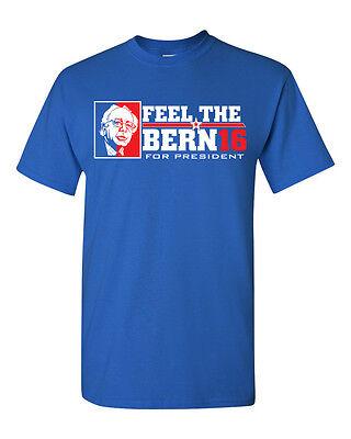 Bernie Sanders For President Feel The Bern Mens Donald Tee Shirt 1334