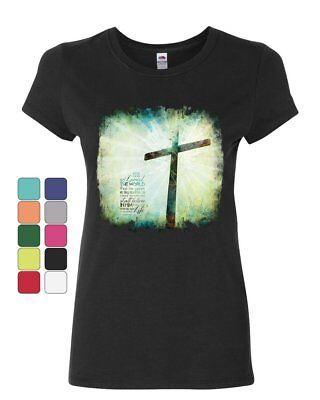 For God so Loved the World Women's T-Shirt Lord Savior Jesus Christian (For The Lord So Loved The World)