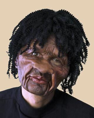 Dead Musician Halloween Costumes (SUPERSOFT SKA-BEAT Latex Mask Black Musician Sculpt Rapper Short Braids)