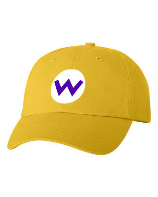 Wario Costume Halloween Smash Bros Unstructured Dad Hat Adjustable Cap-Yellow