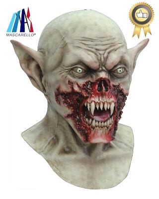MASCARELLO Deluxe Demon Vampire Zombie Mask Halloween Overhead Latex Horror - Vampire Masks Halloween
