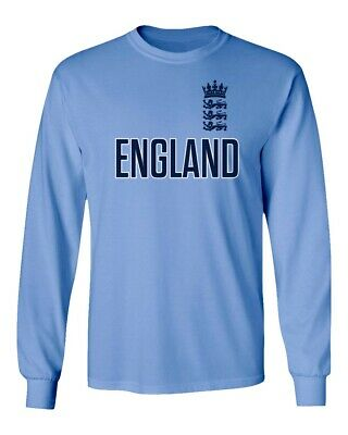 Long Sleeve Cricket - Cricket England Jersey Style Fans Supporter Men's Long Sleeve T-Shirt