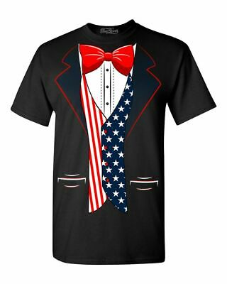 USA Flag Tuxedo T-shirt American 4th of July Patriot Costume Shirts](Usa Flag Costume)