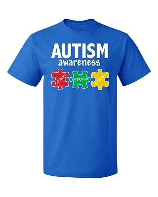 Autism Awareness Support Jigsaw Puzzle (Colored) Men's T-shirt  (Autism Awarness)