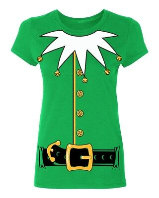 Santa's Helper Elf Christmas Costume Jumbo Print Women's T-shirt funny tee