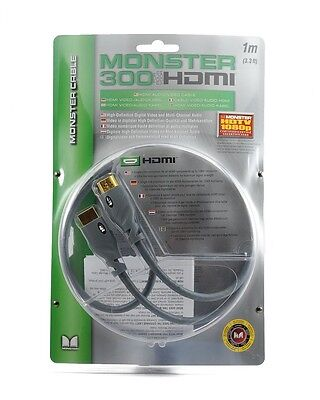 Monster Cable HDMI 300 Series HDTV 1080P 120 Hz 1M 3 FT