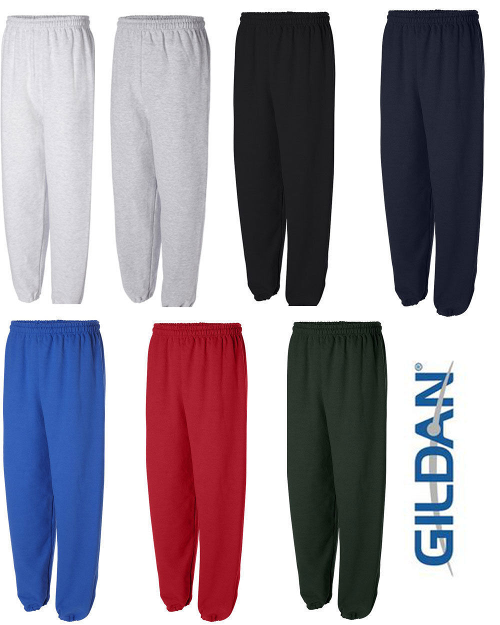 GILDAN Mens S M L XL 2XL Heavy Blend NO Pocket Sweatpants Ju