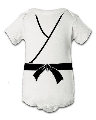 Karate Kid White Inspired Infant Baby Newborn Onesie Creeper Halloween Costume](Newborn Halloween Onesie Costumes)