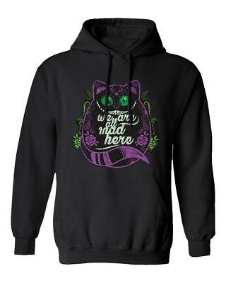 Cheshire Cat Shirt Wonderland Halloween Funny Men's Hooded Sweatshirt (Cheshire Cat Halloween Man)