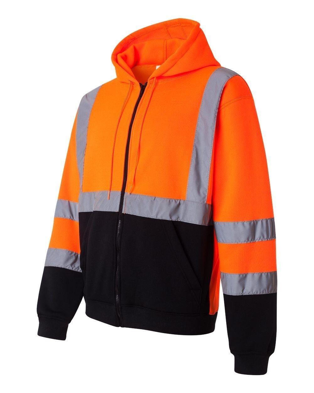 ML Kishigo JS103 Orange Hi-Vis Hooded Sweatshirt Size M-5XL *Free US Shipping* Activewear