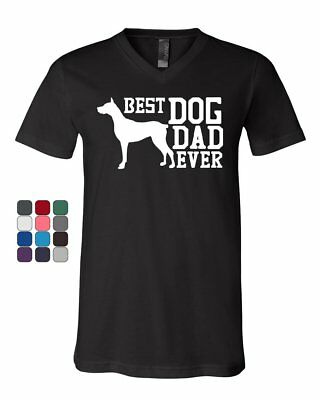 Best Dog Dad Ever V-Neck T-Shirt Father's Day Gift Pet Dog Lovers