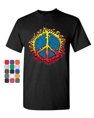 Peace Sign Ameoba T Shirt Happy Love Hippie Dream Joy Happiness Mens Tee Shirt