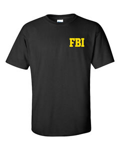 FBI Federal Agent Bureau Of Investigation USA FRONT & BACK PRINT Men's Tee Shirt