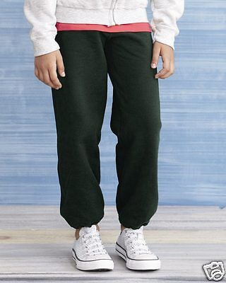 Gildan YOUTH Sweatpants Heavyweight Blend 18200B S-XL Elastic Ankle