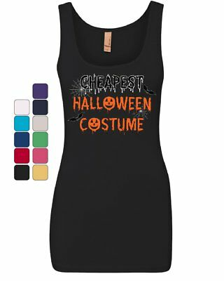 Cheapest Halloween Costume Women's Tank Top Funny Spooky Trick or Treat Top](Cheapest Halloween Costumes)