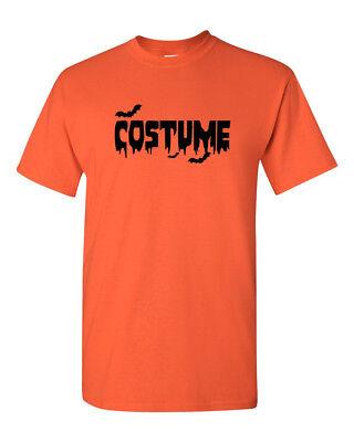 Easy Costume T-Shirt Halloween Shirt Tee Scary Spooky Bat Blood Short Sleeve