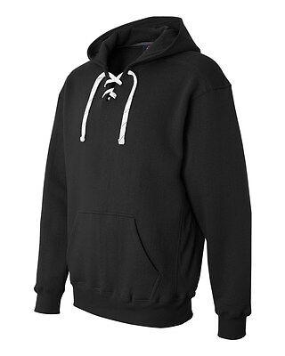 J. America Men's Sport Lace Hooded Long Sleeve Solid Sweatshirt Hoodie 8830 America Mens Sport Lace