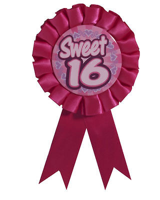 Sweet 16 Birthday Award Ribbon Rosette Party Ribbon Button Pin Back 2-11B